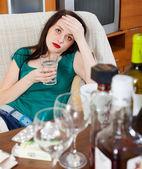 Woman having headache   — Stock Photo