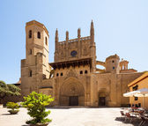 Huesca Cathedral in sunny day  — Foto Stock