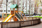 Wooden playground  — Stock Photo