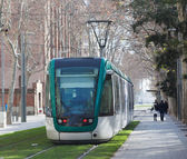 Tramway on street of city — Stock Photo