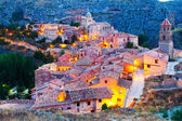 Spanish mountains town in evening. — Foto Stock