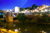 Fortifications from river in night. — Stock Photo