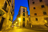 Night view of picturesque narrow street  — Stockfoto