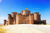 Main gate in Gothic  castle at Belmonte — Stock Photo