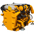 Yellow engine over white — Stock Photo #47098037