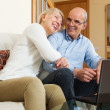 Happy mature couple with laptop — Stock Photo #47098097