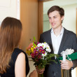 Man giving gifts to woman — Stock Photo #47098153