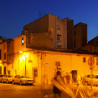 Street in  mediterranean town at night. Sant Adria de Besos  — Stock Photo #47099123