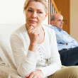 Mature couple after quarrel — Stock Photo