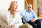 Senior couple after quarrel — Stock Photo