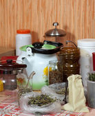 Herbs at home kitchen  — Stock Photo