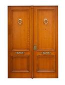 Wooden double doors. — Stock Photo