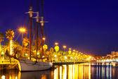 Jacht w porcie port vell. barcelona — Zdjęcie stockowe