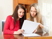 Two women works with documents — Stock Photo