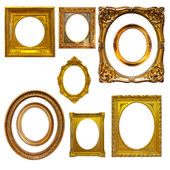 Set of oval picture  frames — Stock Photo