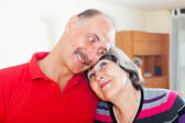 Portrait of loving elderly couple   — Stock Photo