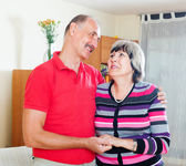 Portrait of cheerful mature couple   — Stock Photo
