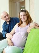 Happy pregnant couple   — Stock Photo