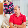 Mature couple after quarrel — Stock Photo #47100765