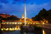 Bridge with Cathedral  in   Murcia — Stock Photo