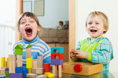 happy children playing in home  — Stock Photo