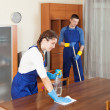 Cleaning team in uniform — Stock Photo #47122921