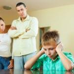 Parents berates her teenage child — Stock Photo #47126101