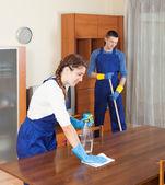 Cleaning team in uniform — Foto de Stock