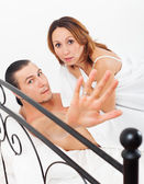 Middle-aged couple caught during adultery   — Stock Photo