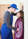 Service worker and housewife — Stock Photo