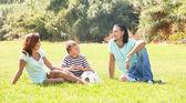 Enjoying time in sunny park — Stock Photo