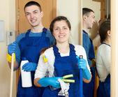 Team of cleaners — Foto de Stock