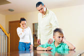 Parents scolding teenager son — Stock Photo