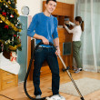 Adult couple doing housework — Stock Photo