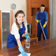 Professional cleaners in uniform — Stock Photo #47141977