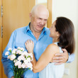 Greeting of loving mature couple — Stock Photo #47142699