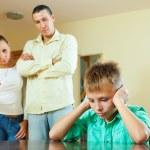 Parents berates her teenage child — Stock Photo #47146373