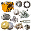 Motor and few automotive parts — Stock Photo #48987215