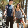 Man and woman with bicycles — Stock Photo #48987303