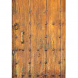 Vintage wooden door over white — Stock Photo #48987313