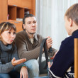 Parents scolding teenage son — Stock Photo