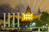 National Palace of Montjuic in evening  — Stock Photo