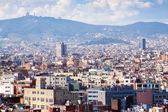 Barcelona from Montjuic. Catalonia — Stock Photo