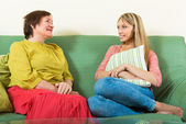 Happy mother with adult daughter — Stock Photo