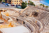 Roman amphitheater at Mediterranean. Tarragona — Stock Photo