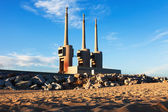 Neglected power thermal station — Stock Photo