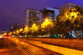 Paseo de la Castellana  in Madrid — Stock Photo