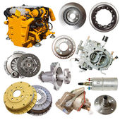 Motor and few automotive parts — Stock Photo