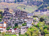 City in mountains Andorra la Vella — Stock Photo