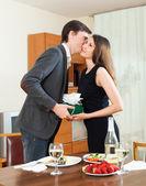Man kisses  girl — Stock Photo
